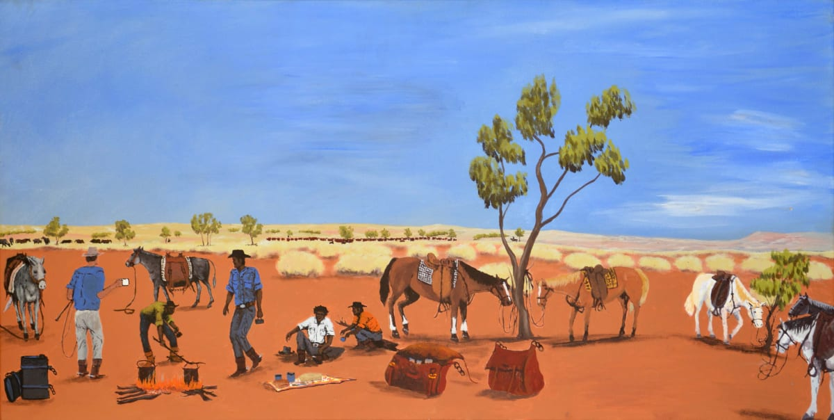 Mervyn Street Paddy Pocket Country acrylic on canvas 60 x 120 cm