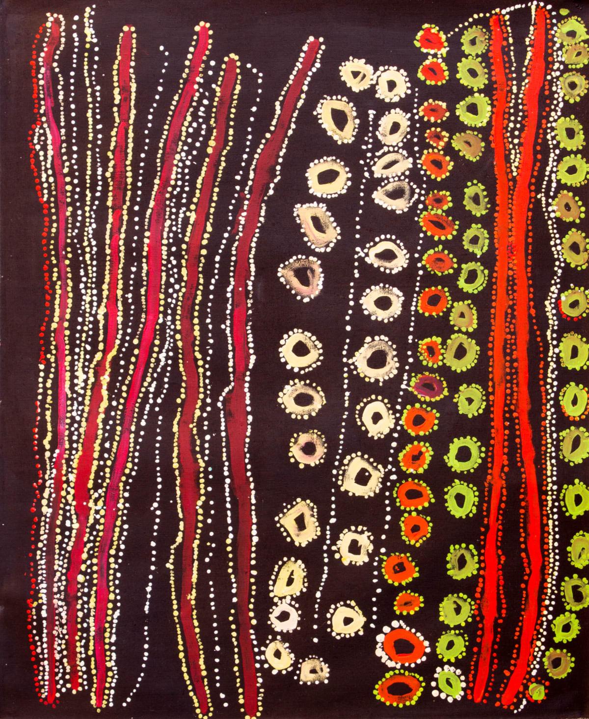 Lawrence Pennington Wati Kutjara acrylic on linen 110 x 91 cm