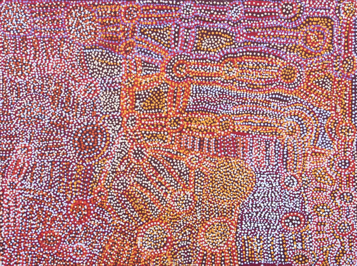 Maringka Burton Anamaruku Tjuta (Many Caterpillars), 2018 Acrylic on Linen 91 x 122cm