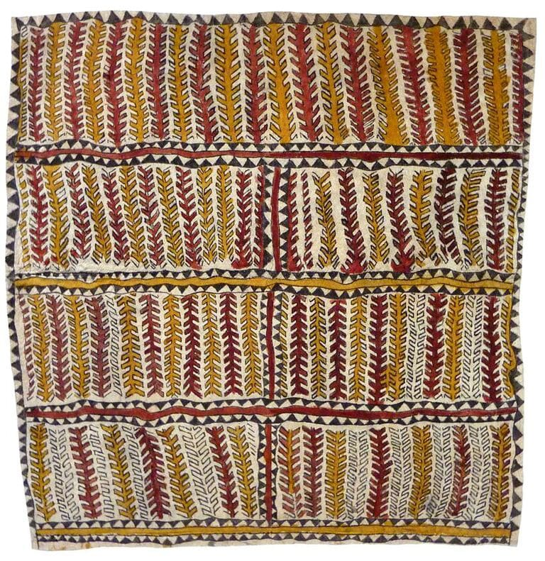 Jean-Margaret Hö'ijo Visuano-e ohu'o dahoru'e natural pigments on nioge (barkcloth) 65.5 x 64 cm