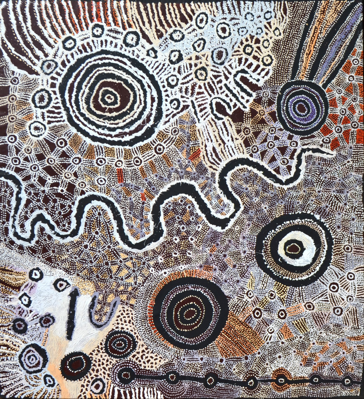 Watarru Collaborative Ilpili acrylic on linen 180 x 200 cm