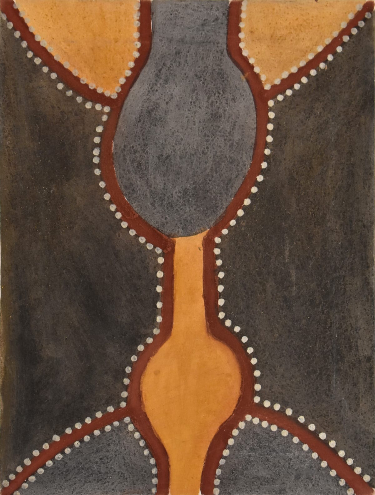 Hector Jandany Ngayardarwun, Ngarrgooroon Country, 2000 Natural ochre & pigment on canvas 80 x 60 cm