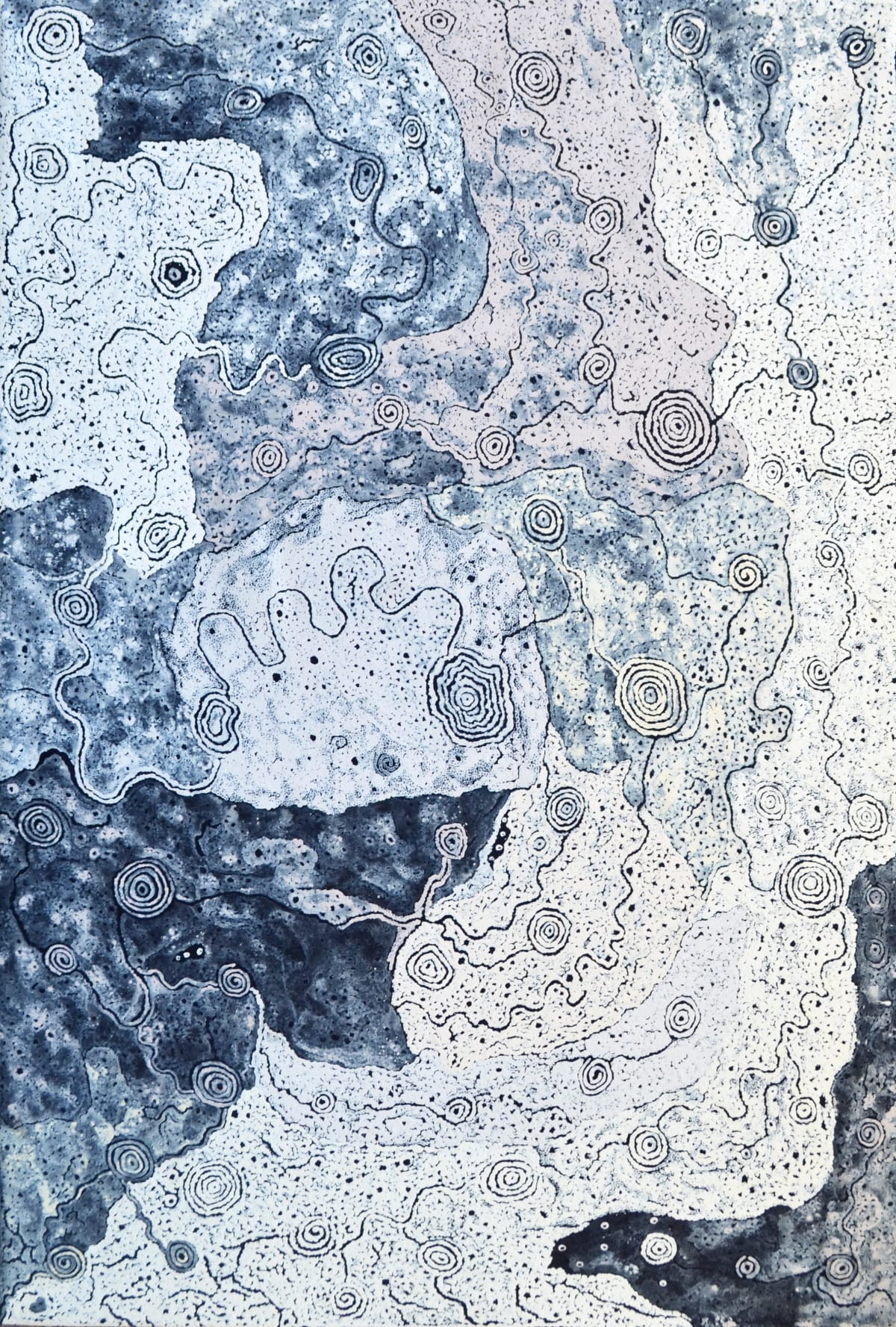 Keith Stevens Nyaparui Tjukurpa acrylic on linen 100 x 150 cm