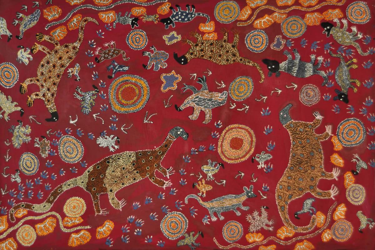 Mary Pan Ngayuku Ngura - My Country acrylic on linen 101.5 x 152 cm