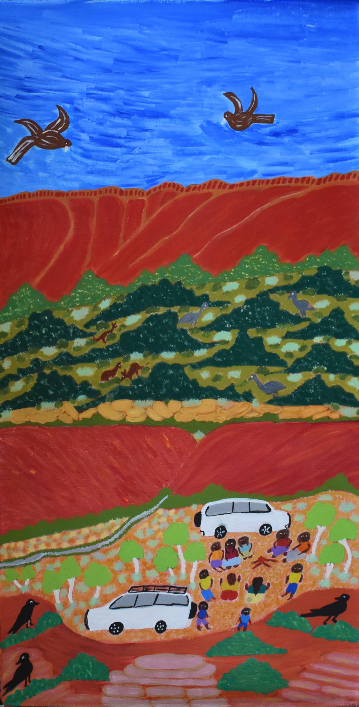 Betty Conway Ilari Spring, Tempe Downs, 2019 Acrylic on linen 46 x 89.8 cm