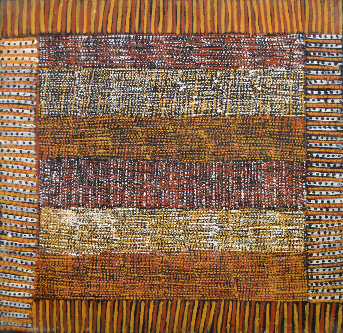 Kaye Brown Jilamara natural ochres on canvas 60 x 60 cm