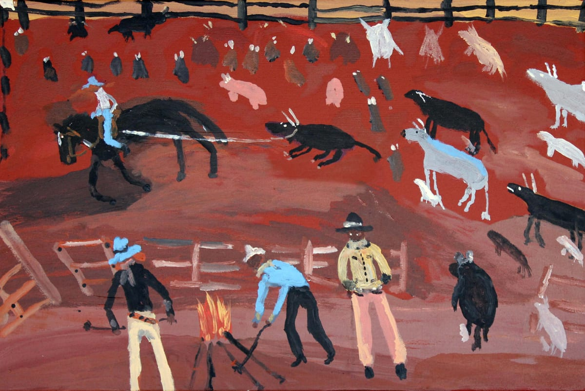 Jimmy Pompey Cowboy Story acrylic on canvas 41 x 61 cm