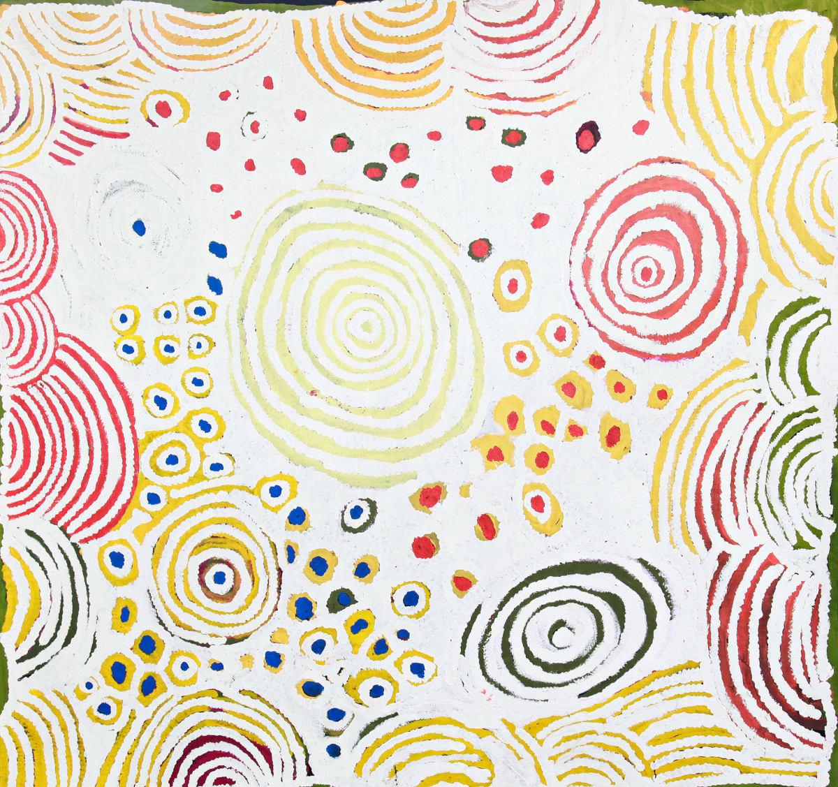 Katjarra Butler Ngamurru acrylic on canvas 140 x 131 cm