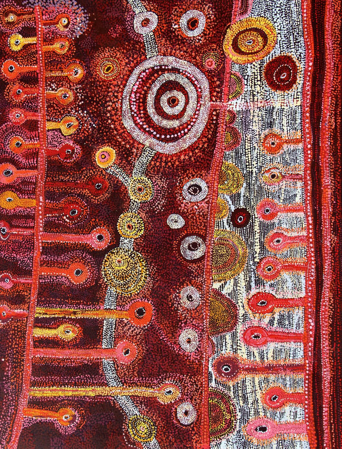 Rosalind Tjanyari Ngyuku Ngura Kuuti Uwankara acrylic on canvas 198 x 152 cm