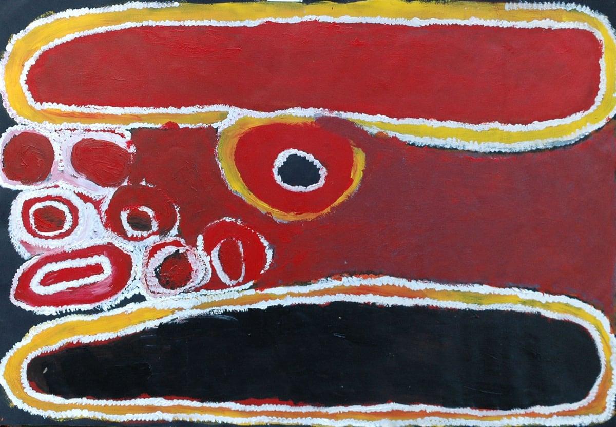 Molly Rogers Japingka atelier artist acrylic on 250gsm velin arches 76 x 111 cm