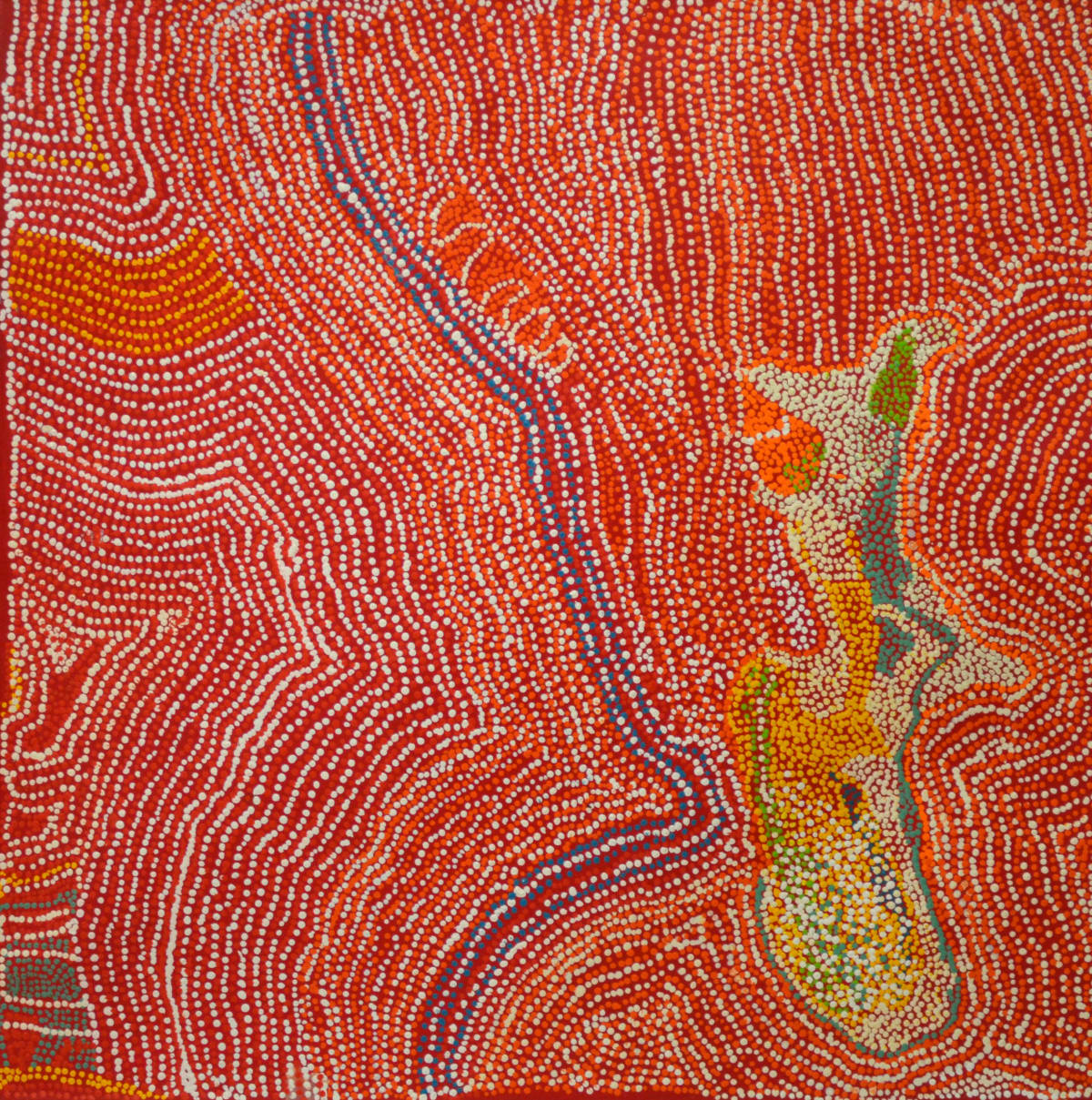 Elaine Wanatjura Lane Minyma Tjuta acrylic on canvas 91 x 91 cm
