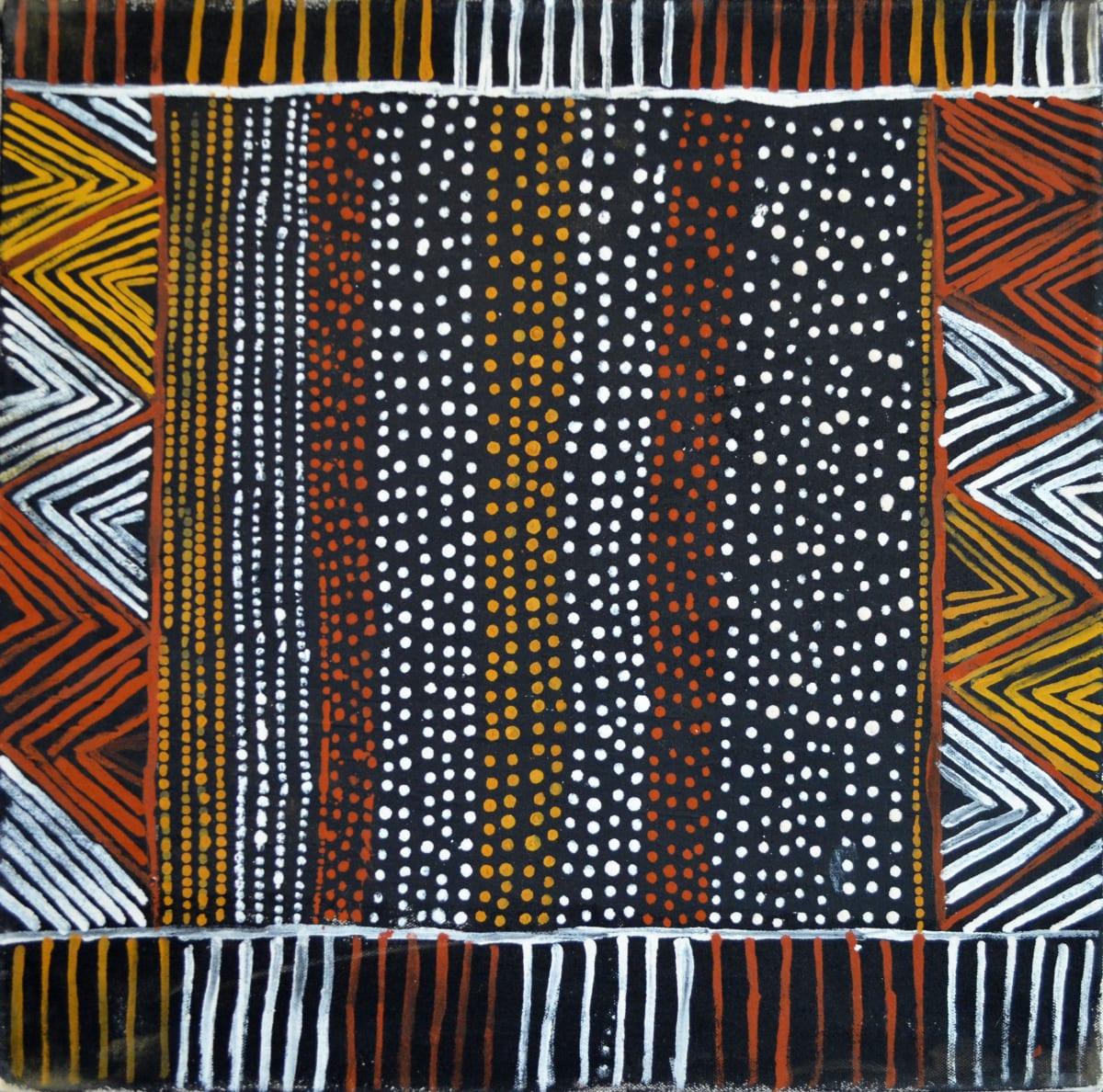 Mary Elizabeth Moreen Jilamara natural ochres on canvas 45 x 45 cm