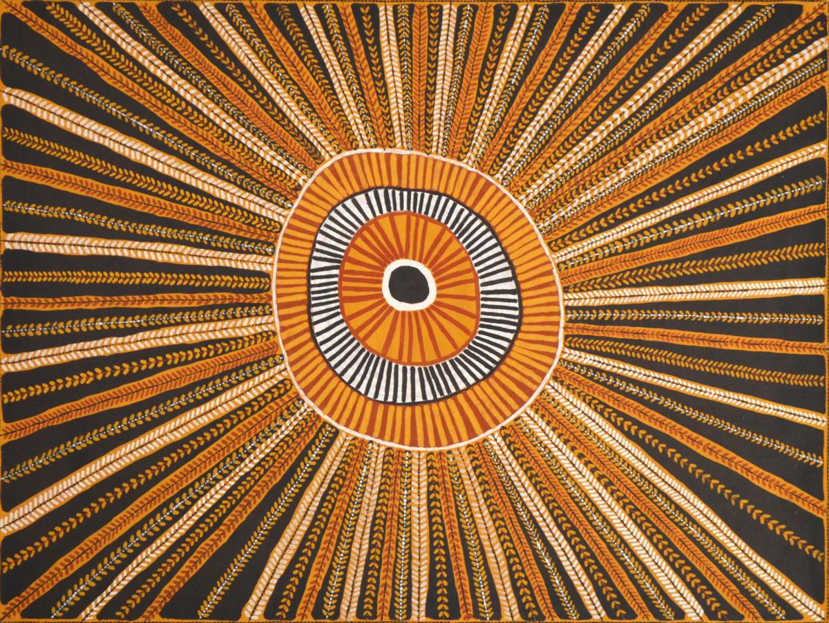 Pauletta Kerinaiua Untitled natural ochres on canvas 120 x 90 cm