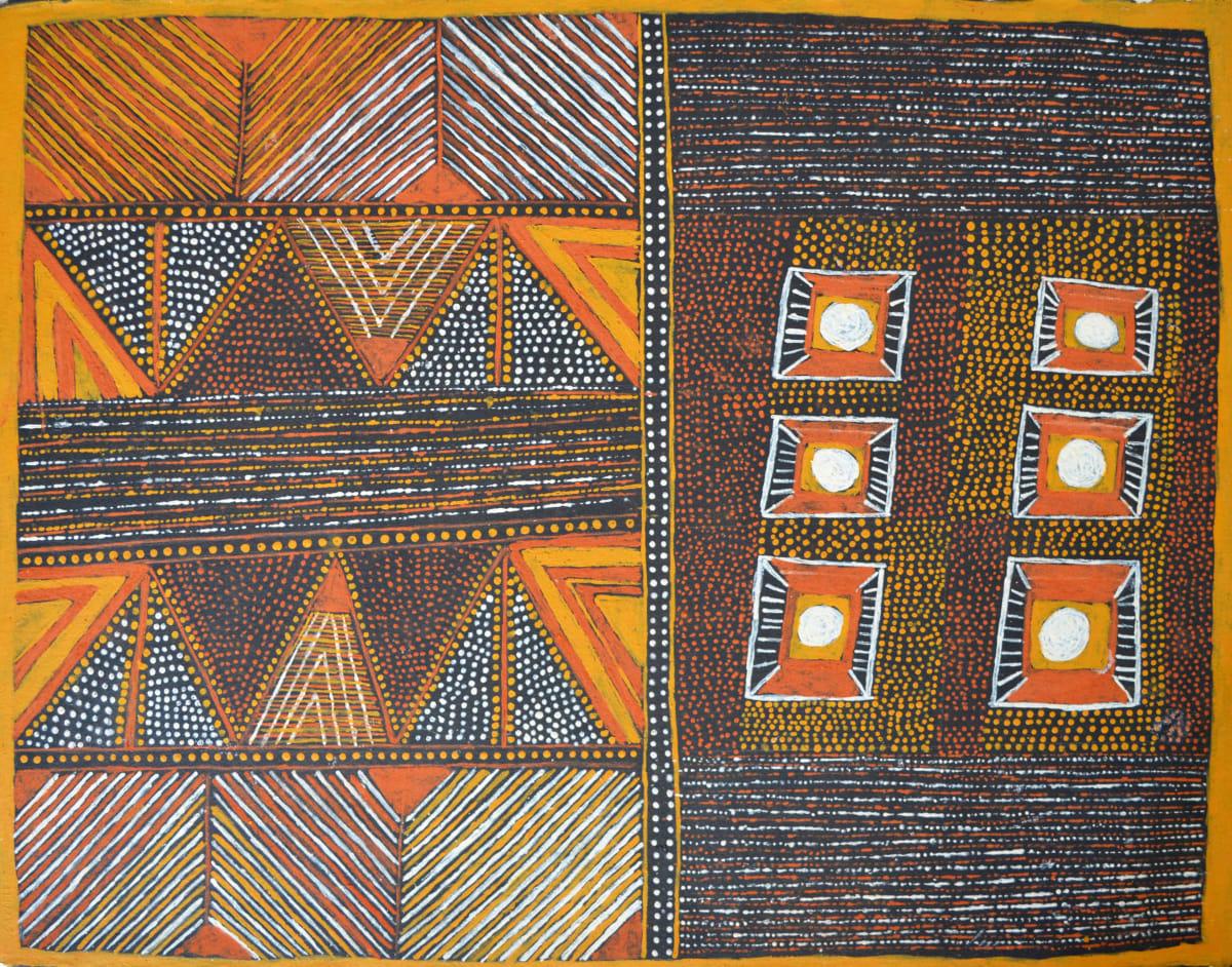 Pamela Brooks Jilamara natural ochres on arches paper 76 x 56 cm
