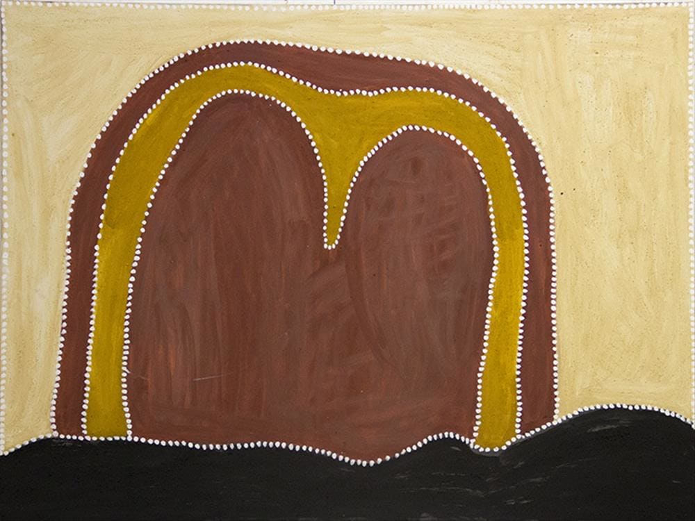 Phyllis Thomas NYIDBARRIYA natural earth pigment on canvas 120 x 90 cm