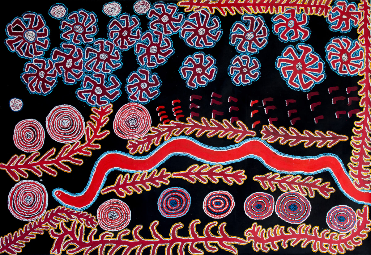 Lennard Walker Kungkarangkalpa, 2015 Acrylic on linen 200 x 137 cm