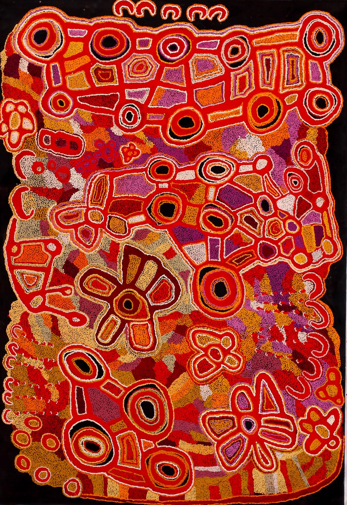 Ngalpingka Simms Seven Sisters at Wayiyul, 2018 Acrylic on linen 200 x 137 cm
