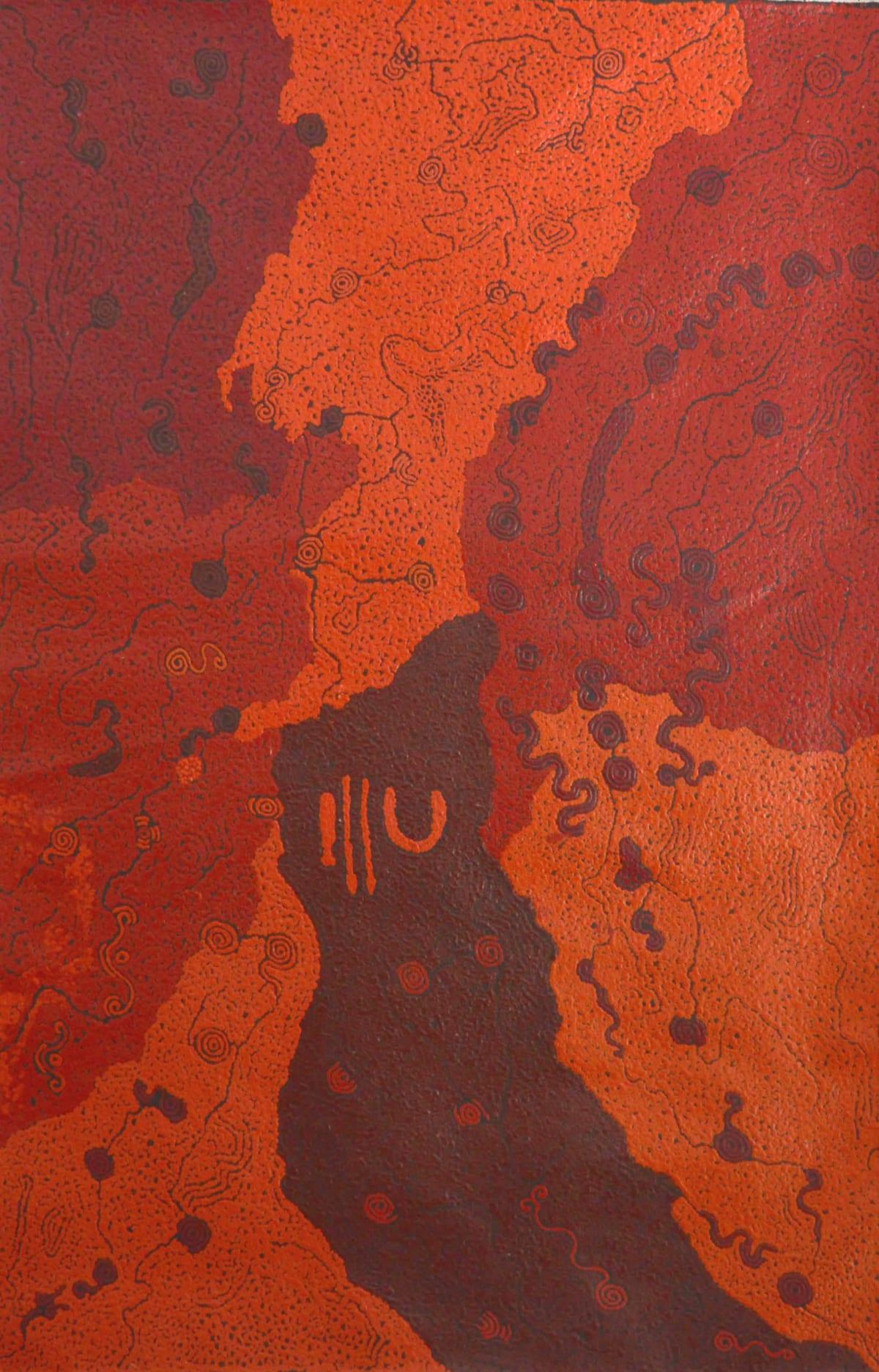 Keith Stevens Piltati 2014 acrylic on linen 100 x 66 cm