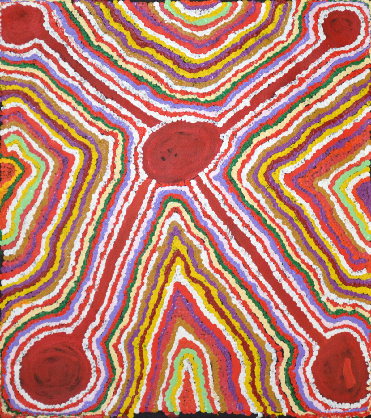 Jimmy Donegan Pukara acrylic on canvas 61 x 55 cm