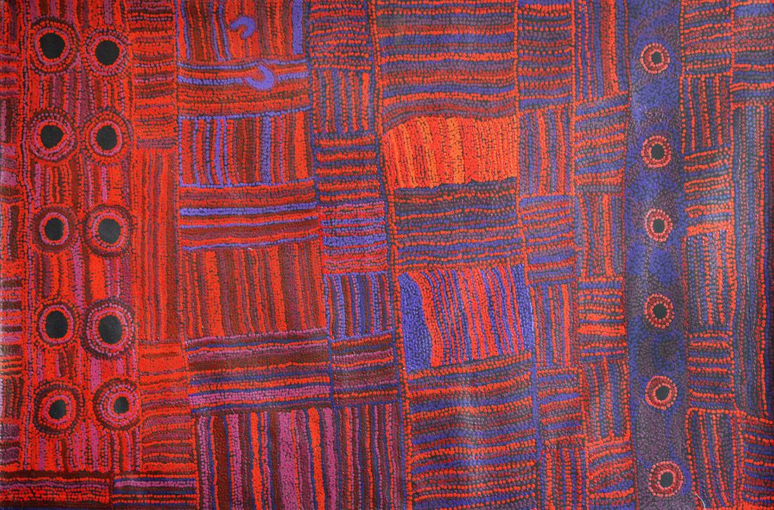 Venita Woods Kata Ala acrylic on linen 100 x 150 cm