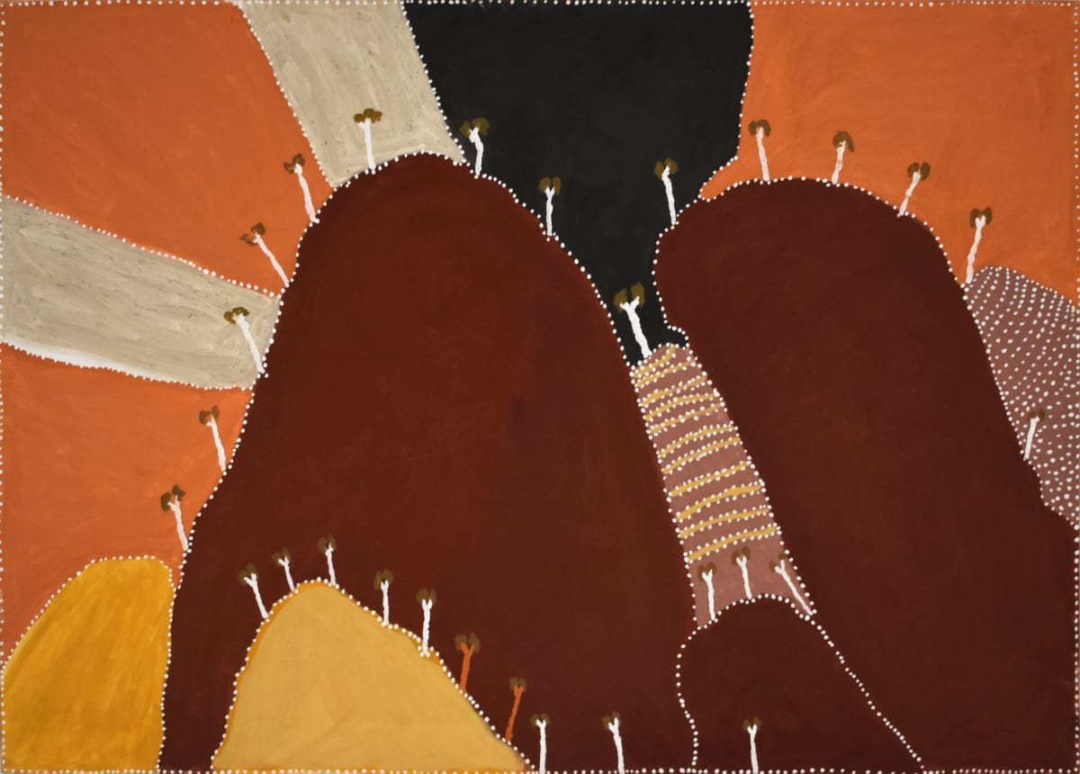 Patrick Mung Mung Ngarrgooroon & the Yoonggoony, 2010 Natural ochre & pigment on canvas 140 x 100 cm