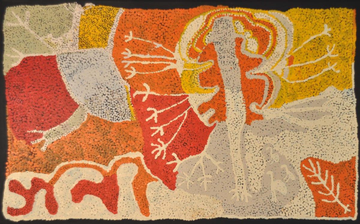Pantjiti Lionel and Ungakini Tjangala Wati Kuniya acrylic on canvas 122 x 76 cm