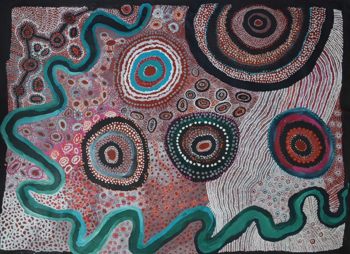 Watarru Collaborative Minyma Kutjara acrylic on linen 200 x 150 cm