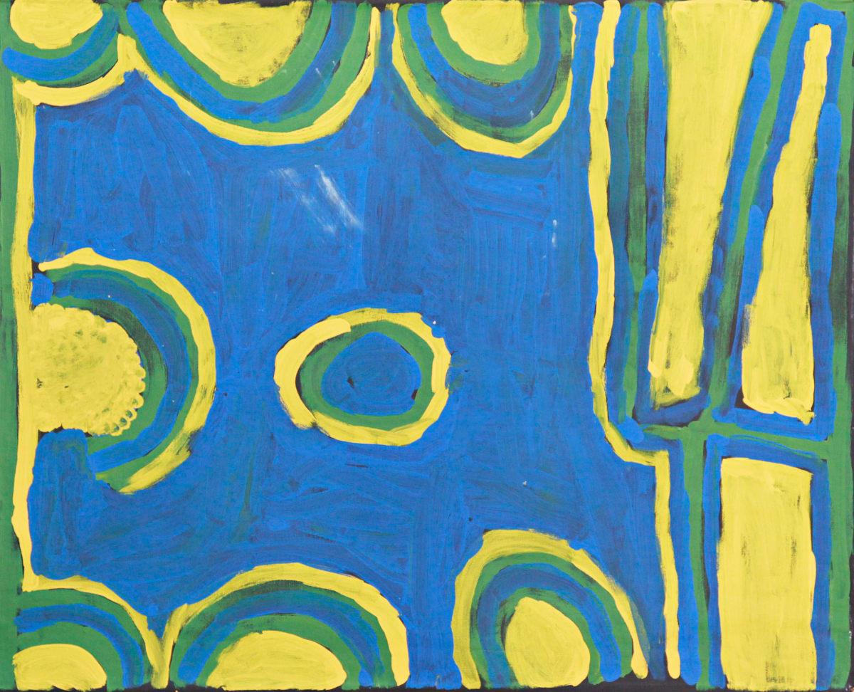 Bob Gibson Warlurtu acrylic on canvas 74 x 59 cm
