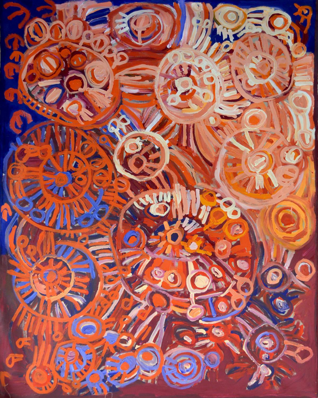 Imitjala Curley Ngayuku ngunytjuku ngura acrylic on linen 200 x 153 cm