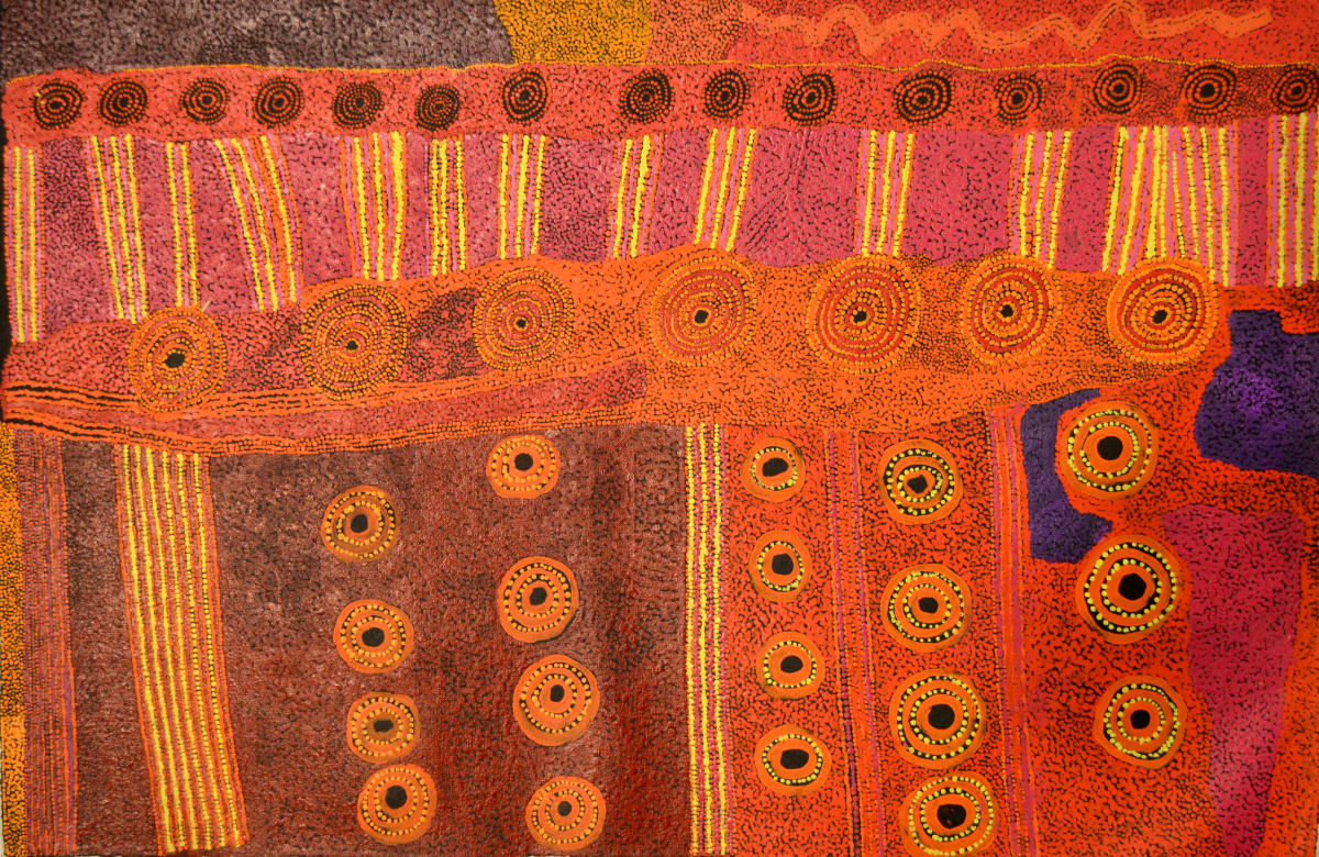 Ginger Wikilyiri Tjukula Tjukurpa 2014 acrylic on linen 100 x 66 cm