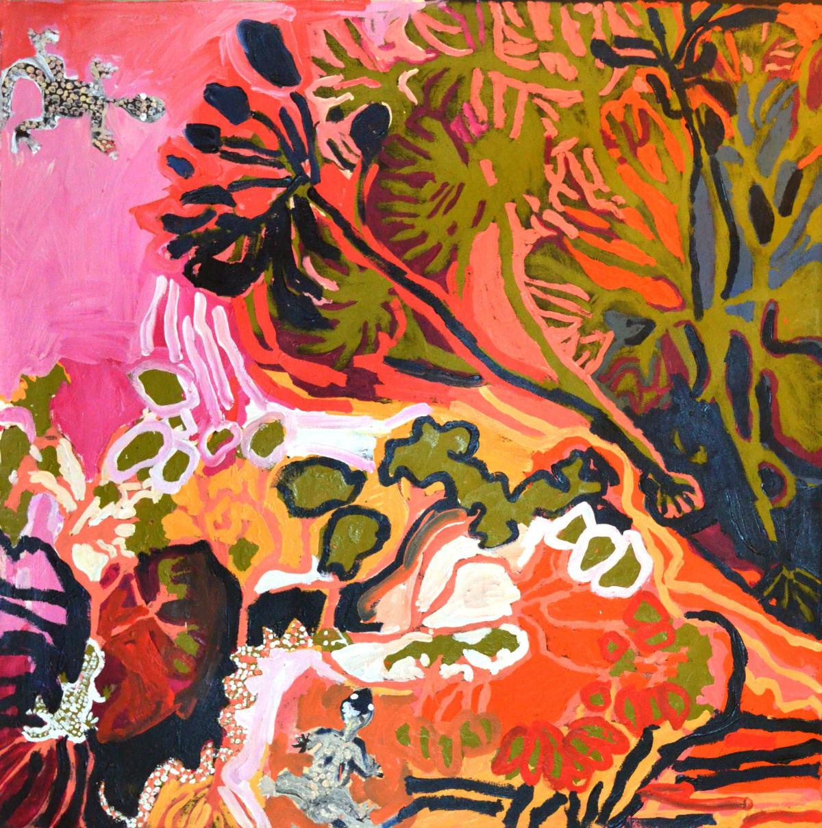 Barney Wangin Ngayuku ngura - My Country acrylic on linen 101.5 x 101 cm