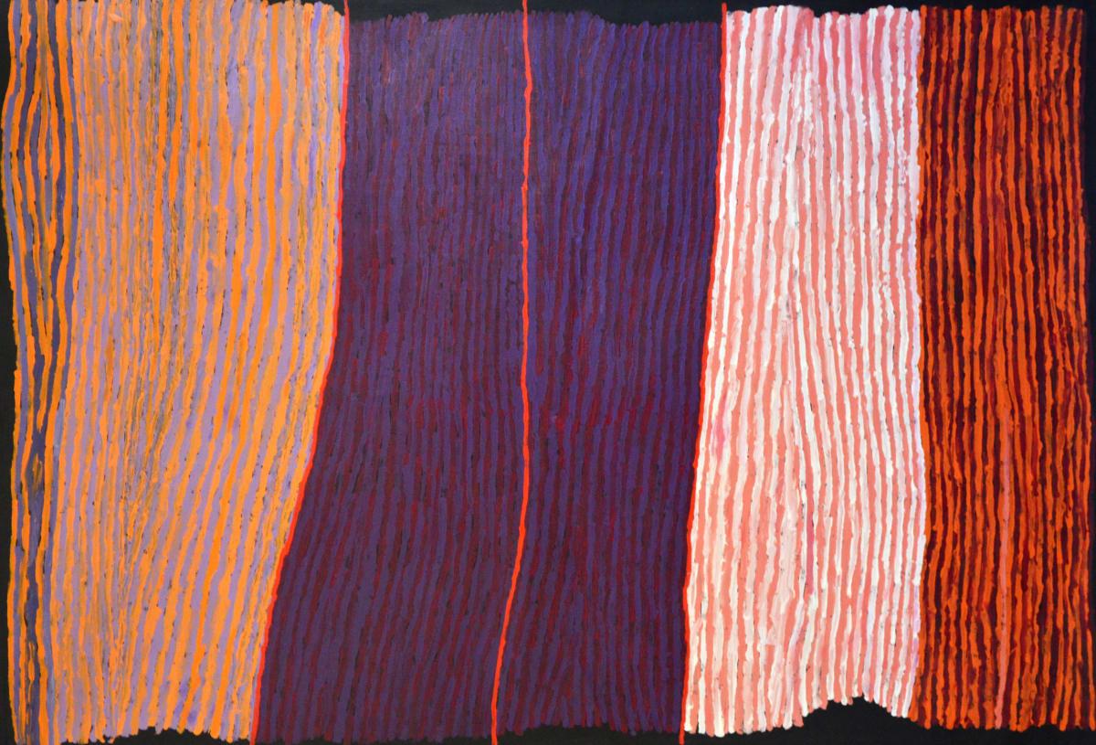 Ray Ken Tali- Sand dune acrylic on linen 152 x 101 cm