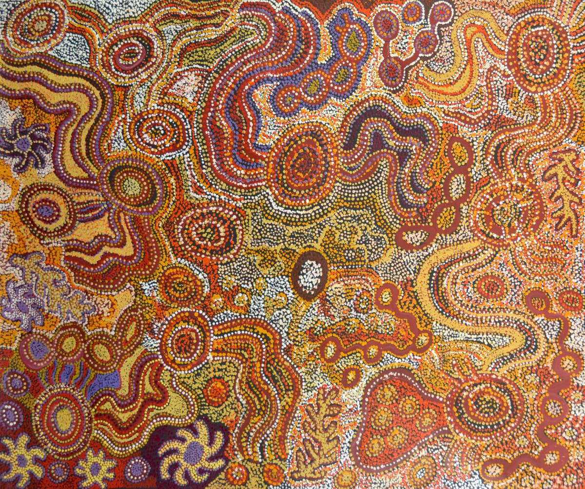 Beverley Cameron Minyma Kutjara-Mantarur acrylic on linen 153 x 122 cm