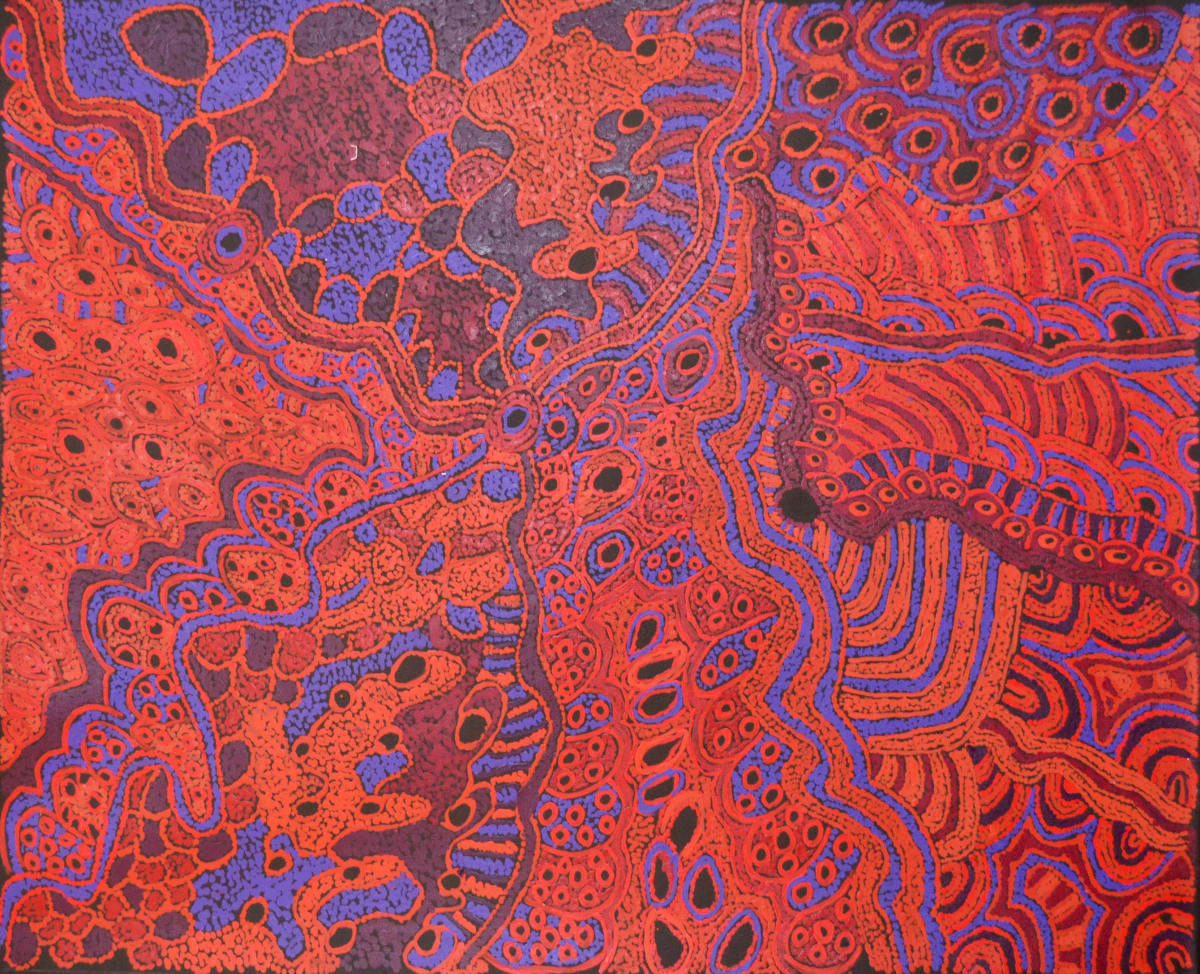 Judy Martin Ngayuku Ngura (my country) acrylic on linen 91 x 110 cm