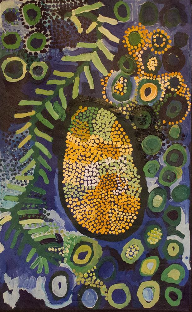 Helen Curtis Cave Hill acrylic on linen 76 x 120 cm