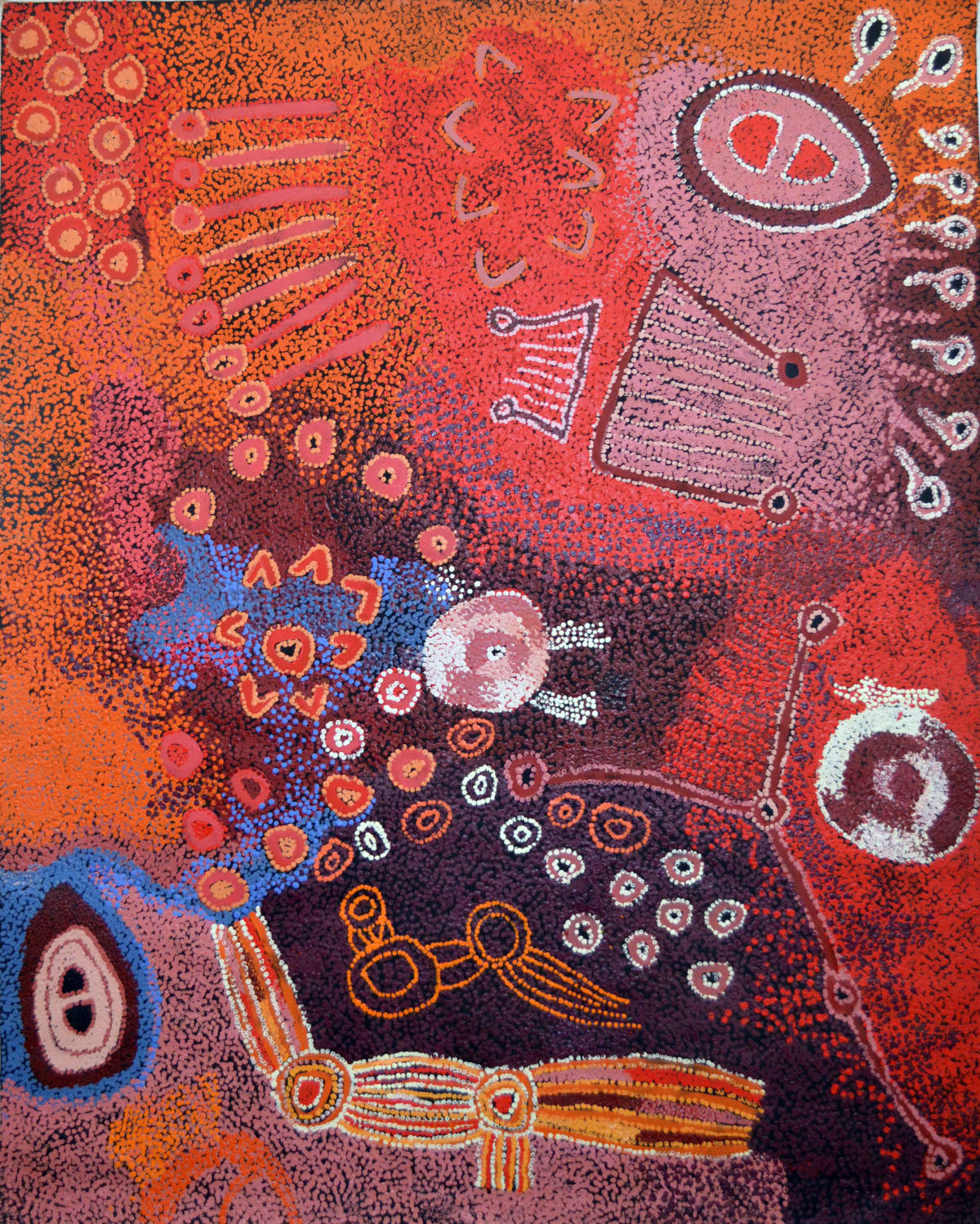 Sallyanne Roberts Kuru Ala acrylic on linen 120 x 150 cm