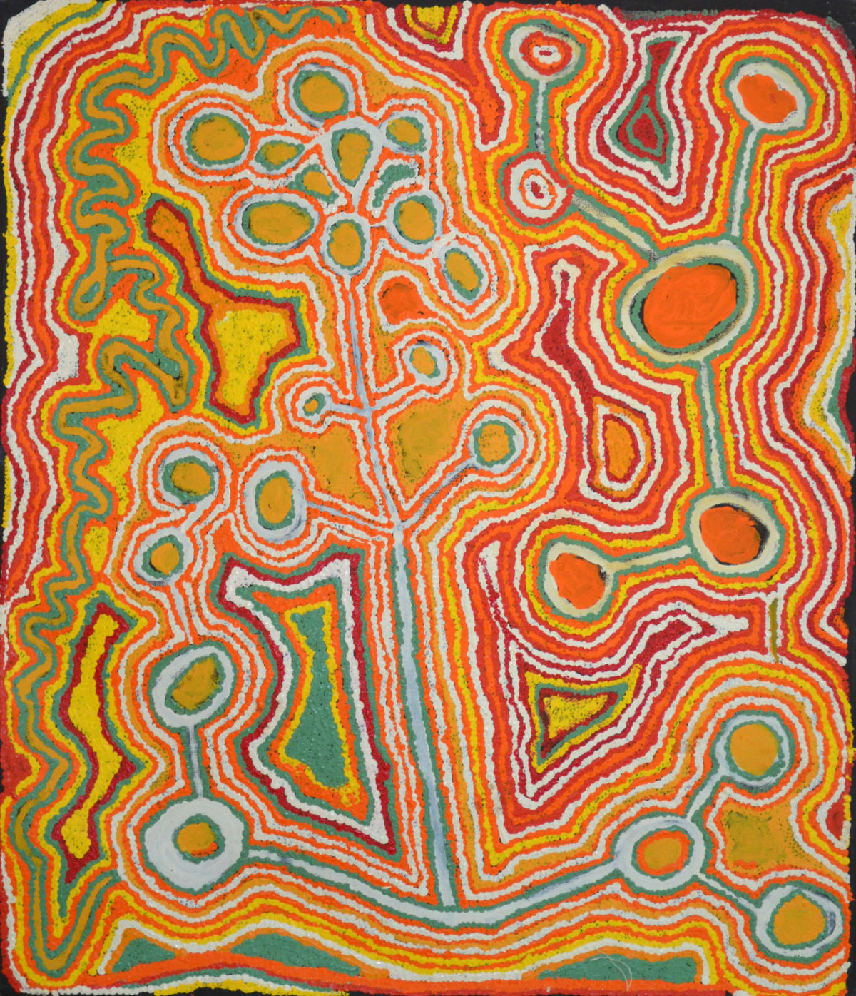 Jimmy Donegan Pukara acrylic on linen 107 x 91 cm