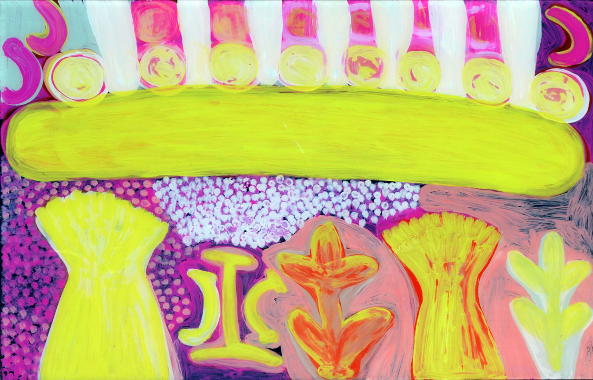 Jean Rangi Martuwarra acrylic on polycarbonate 60 x 90 cm