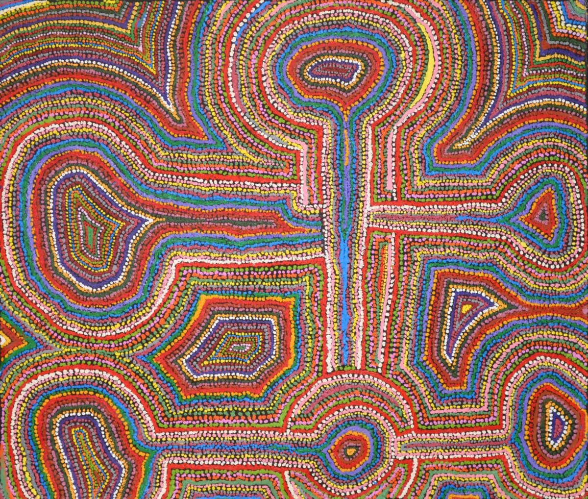 Samuel Miller Ngayuku Ngura acrylic on linen 91 x 107 cm