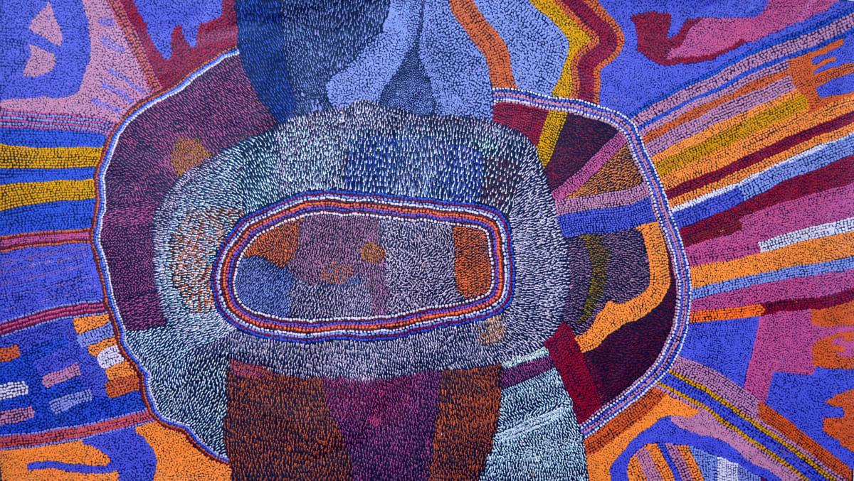 Bernard Tjalkuri Tjitji Tjukurpa 2013 acrylic on linen 200 x 120 cm