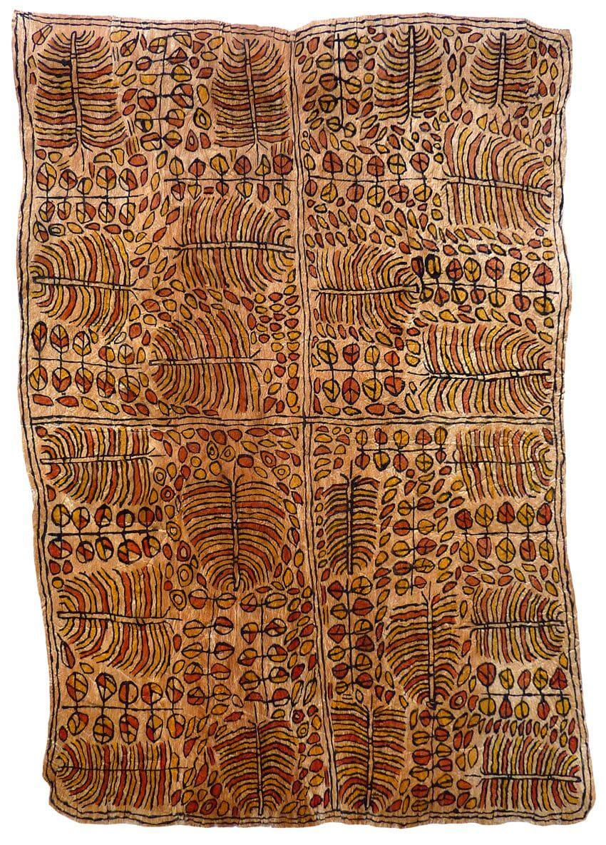 Martha-Jean Uhamo (Dogarine) Misai ohu'o Samwé han'e natural pigments on nioge (barkcloth) 91 x 63 cm
