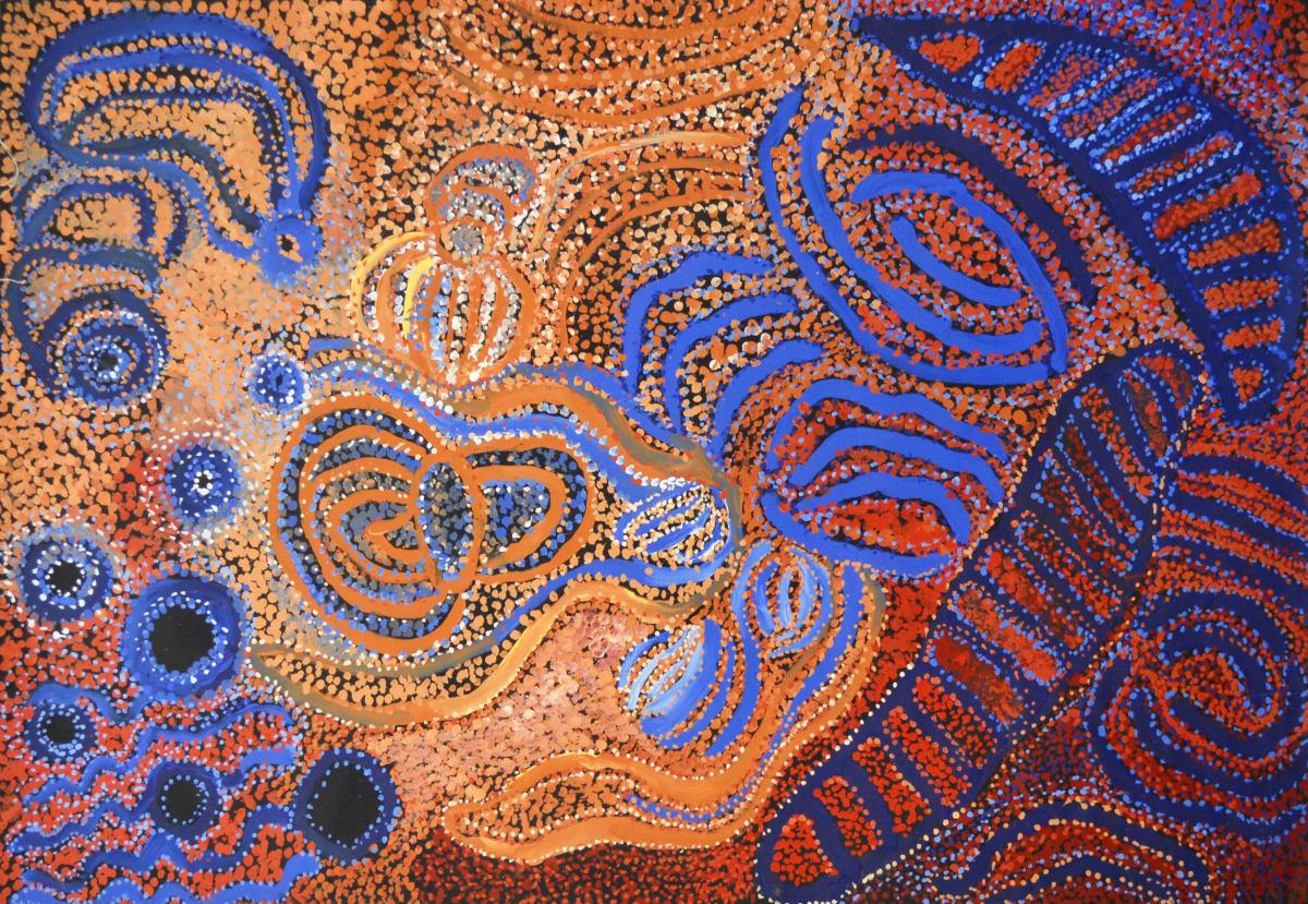 Ruth Fatt Kuru Ala acrylic on linen 100 x 150 cm