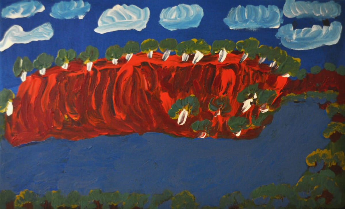 Alison Inkamala Central Mt Wedge [Karrinyarra] acrylic on canvas 30 x 60 cm