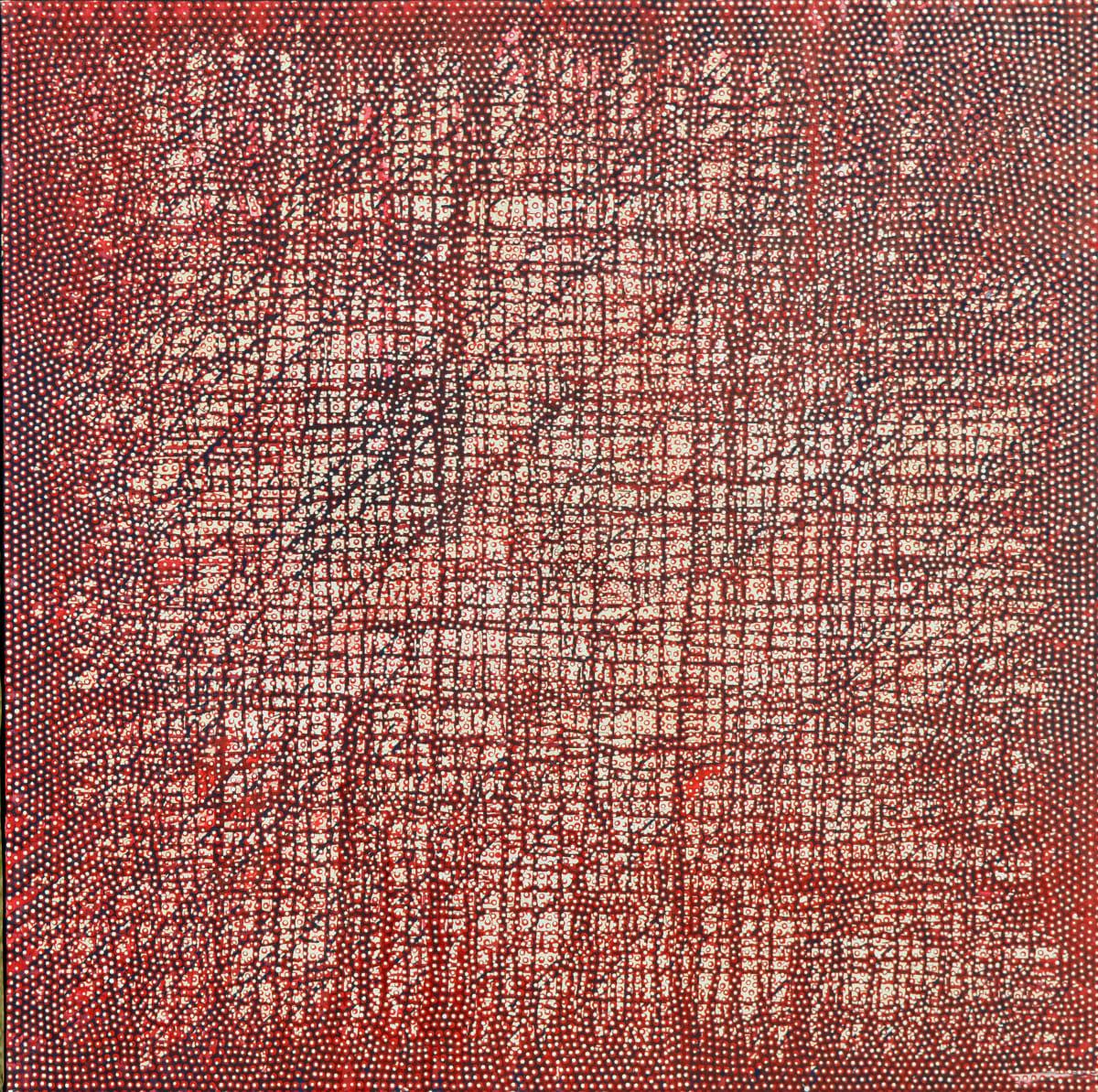 Robert Fielding Milkali Kutju acrylic on linen 122 x 122 cm