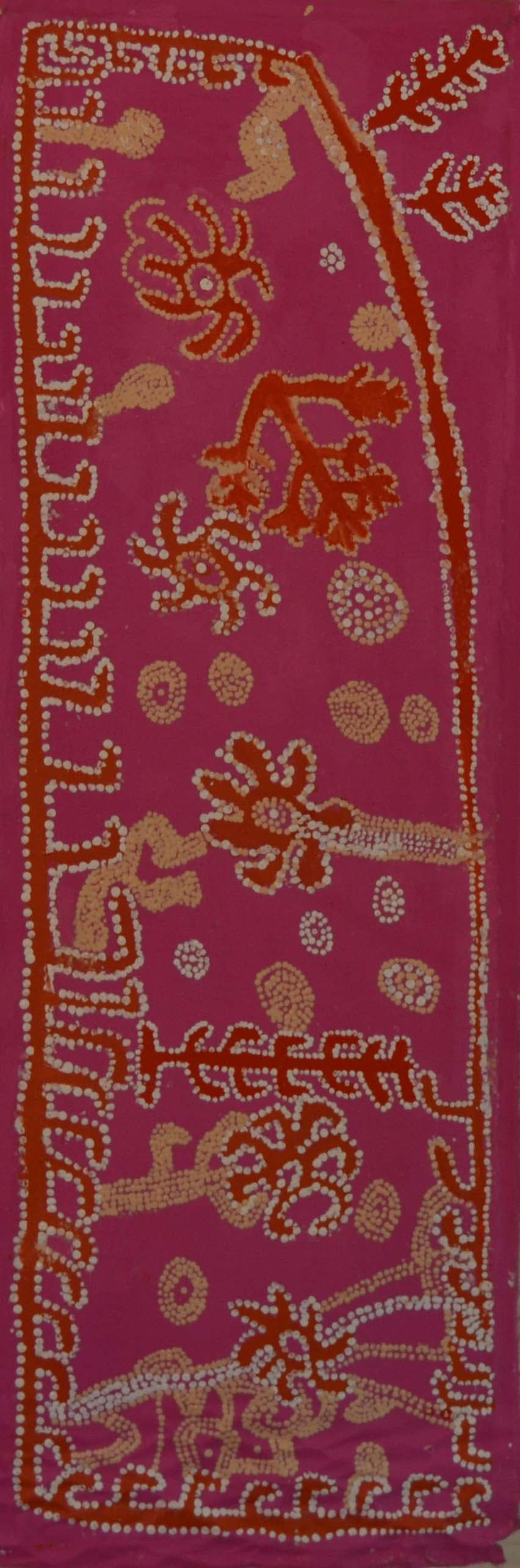 Whiskey Tjukangku Arrernte Country acrylic on canvas 121 x 40 cm