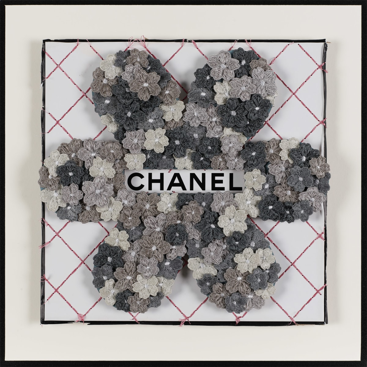 Stephen Wilson, Chanel Flower Flower, Grey, 2019