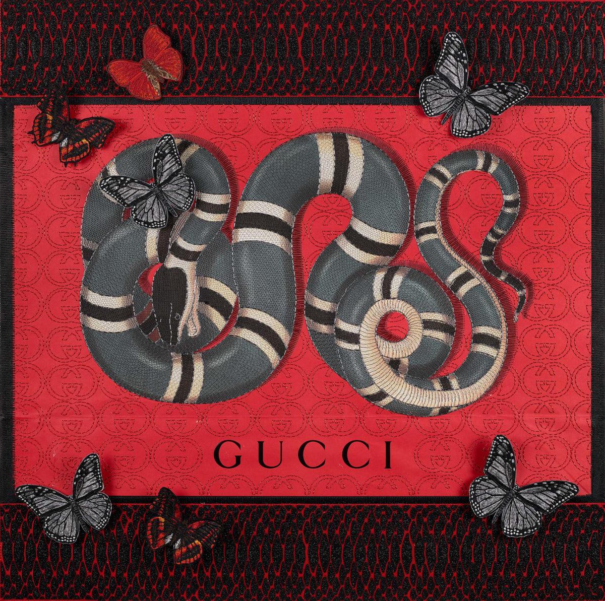 Stephen Wilson, Gucci Snake Tracks, 2020