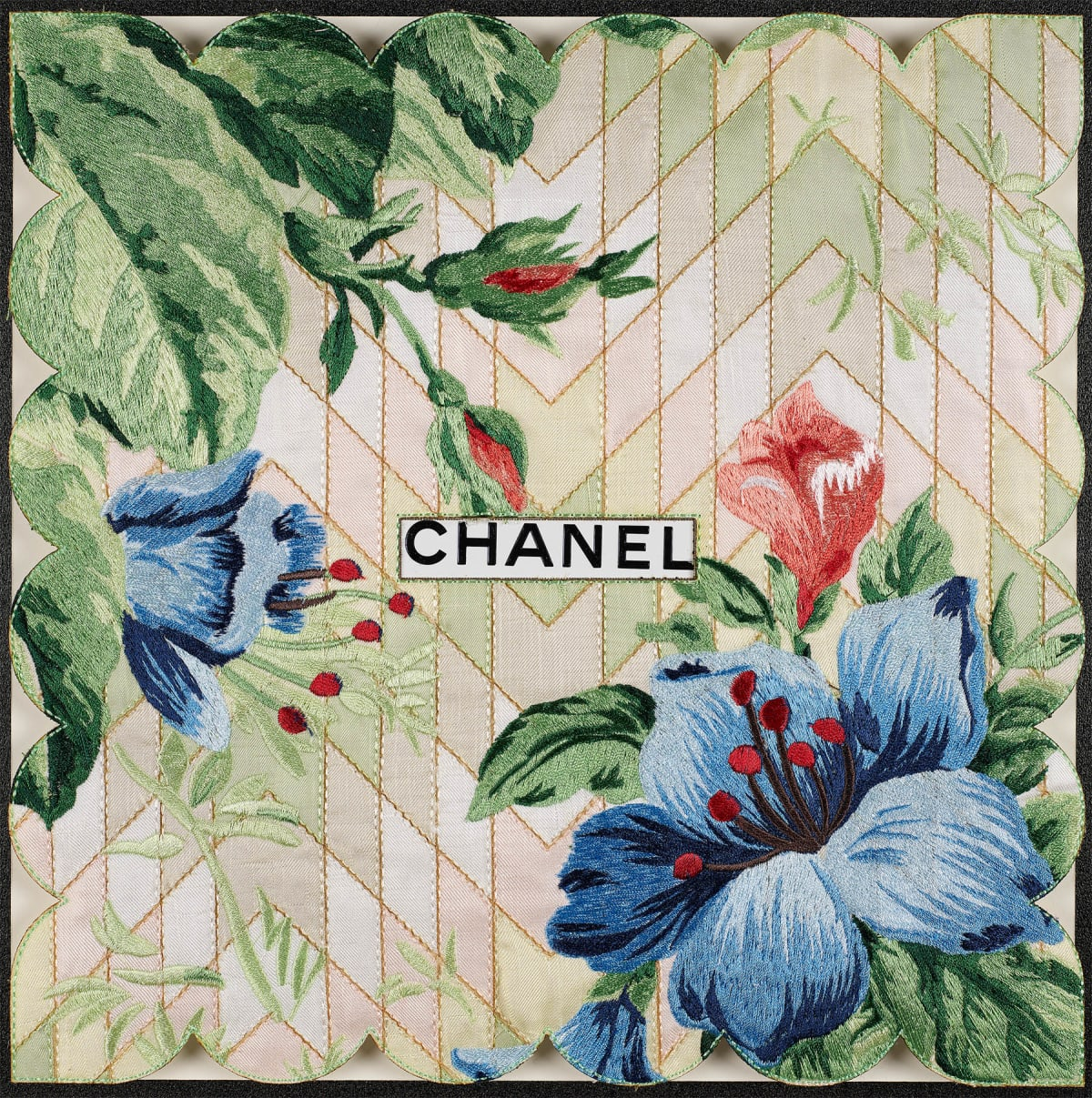 Stephen Wilson, Chanel Mint Chevron, 2020