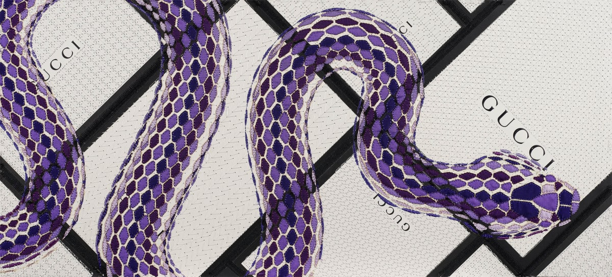 Stephen Wilson, Gucci Serpente (Amethyst), 2020