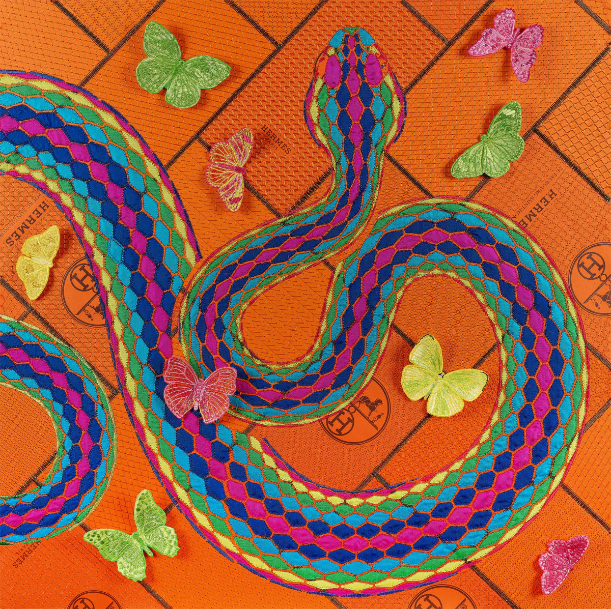Stephen Wilson, Neon Serpent, 2020